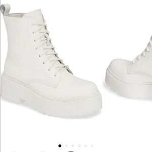 ISO jeffery campbell district combat boot white